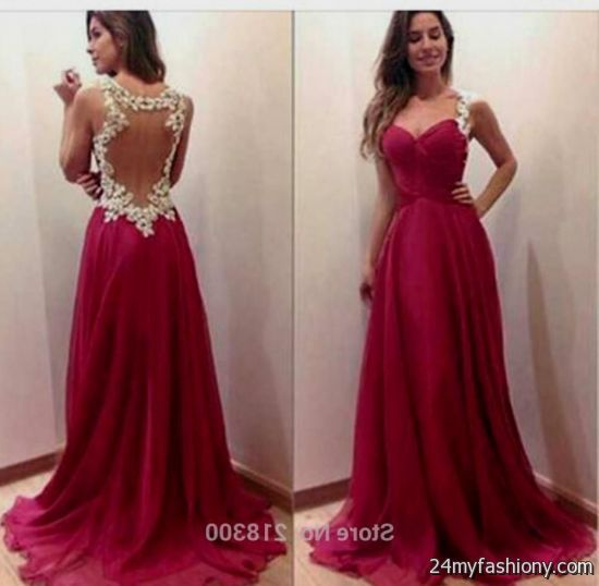 Maroon Prom Dresses 2017 2018 B2B Fashion