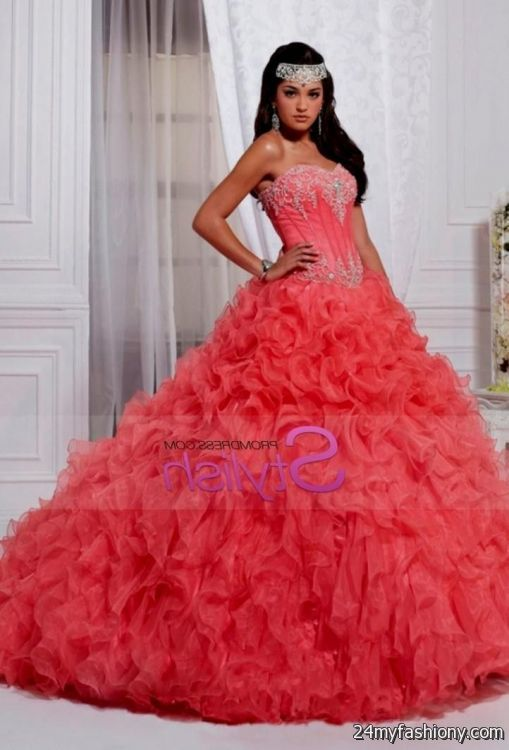 4c24cb48df You can share these melon quinceanera dresses on Facebook