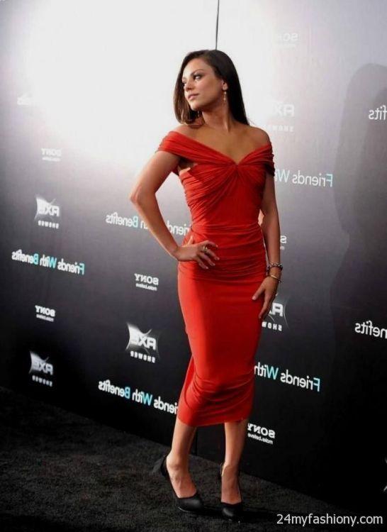 mila kunis red dresses 2016-2017 » B2B Fashion