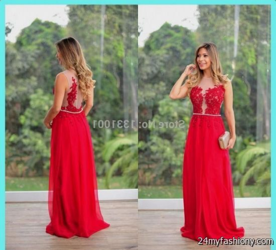Red Military Ball Dresses 2015