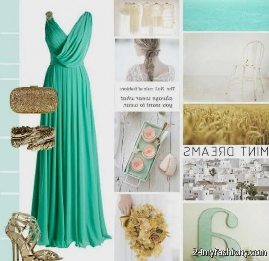 Mint and gold bridesmaid dresses 2016 2017 b2b fashion for Mint and gold wedding dress