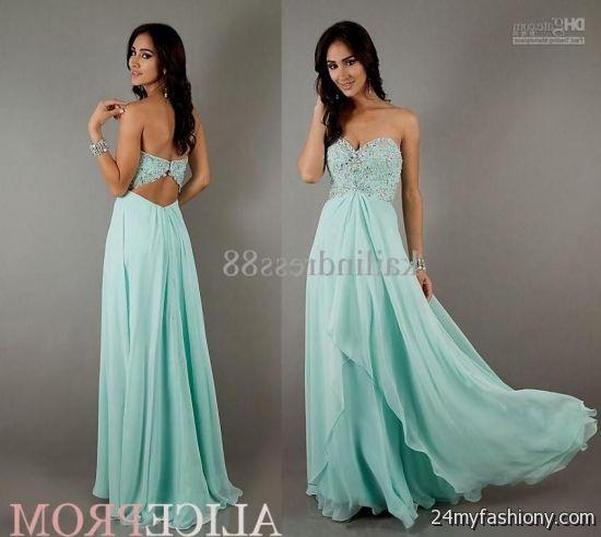 Mint Blue Prom Dresses - Missy Dress