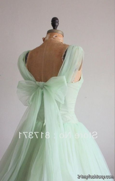 Mint green vintage bridesmaid dresses