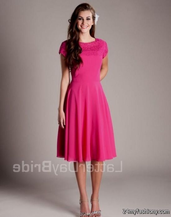 modest bridesmaid dresses pink 2016-2017 | B2B Fashion