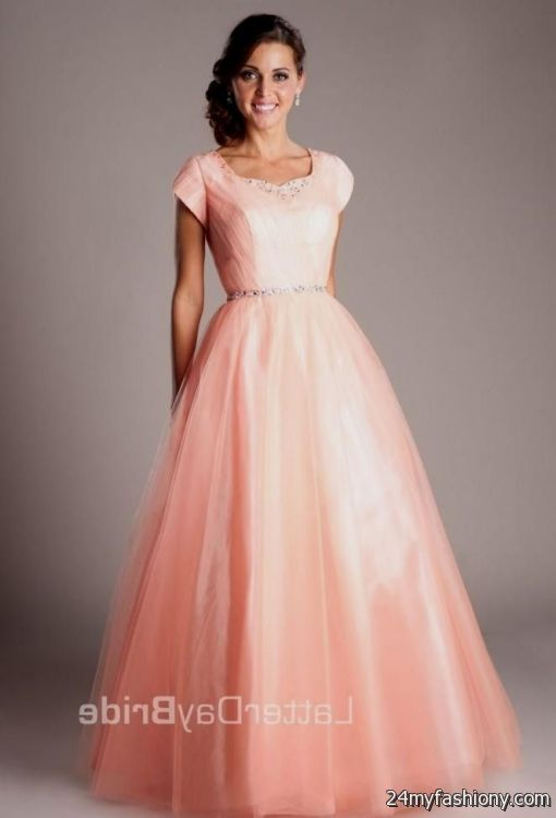 modest bridesmaid dresses pink 2016-2017 » B2B Fashion