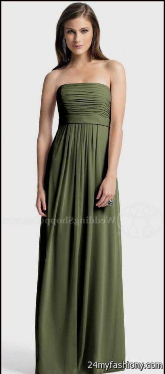 Cheap moss green bridesmaid dresses
