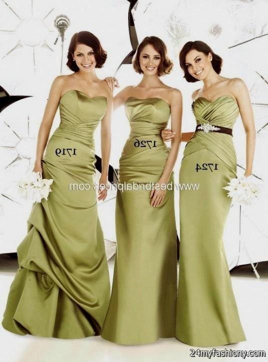 moss green bridesmaid dresses 2016-2017 | B2B Fashion