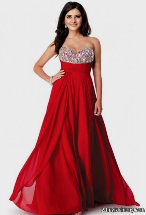 Most beautiful red prom dresses in the world 2016-2017 » B2B Fashion
