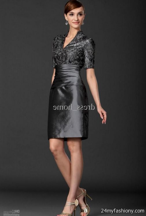 mother of the bride dresses knee length gray 2016-2017 » B2B Fashion