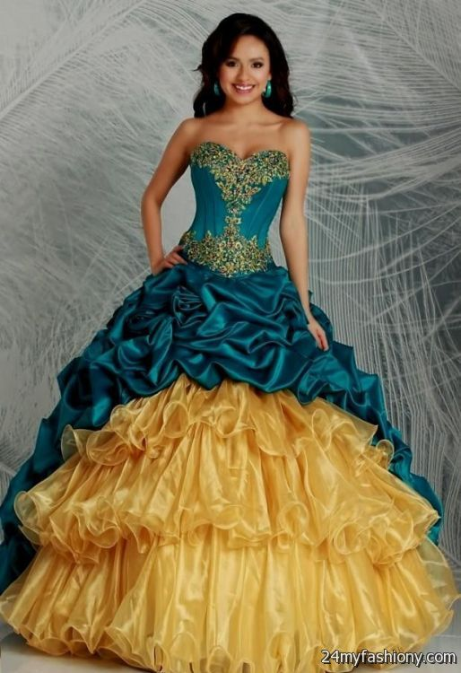 abf4100c91 navy blue and gold quinceanera dresses looks