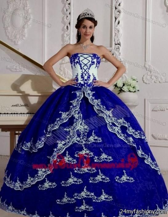 Dresses quinceanera blue and silver