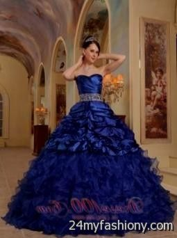 dress - Dresses quinceanera blue and silver video