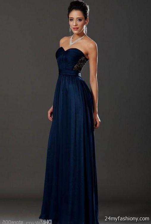 Navy Blue Lace Prom Dresses 2015 Best Dresses 2019