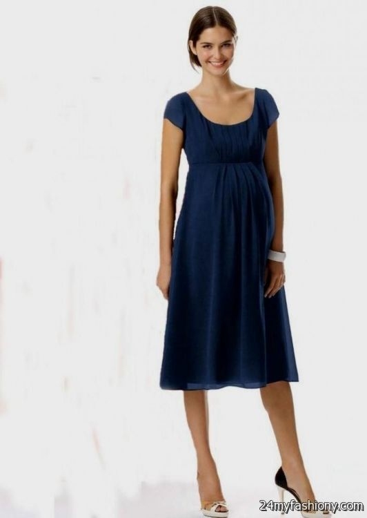 Navy blue maternity bridesmaid dress 2016 2017 b2b fashion for Navy blue maternity dress for wedding