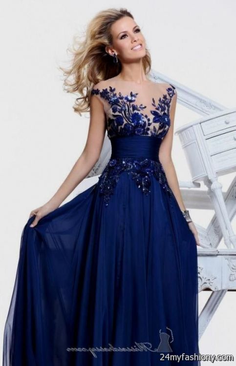 Blue Prom Dress With Straps - Missy Dress