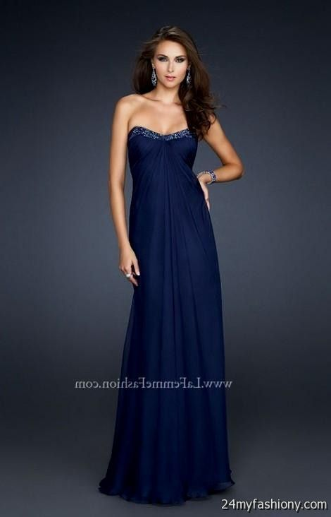 Navy Blue Prom Dress - Ocodea.com