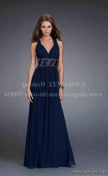 navy blue prom dresses with straps 2016-2017 » B2B Fashion