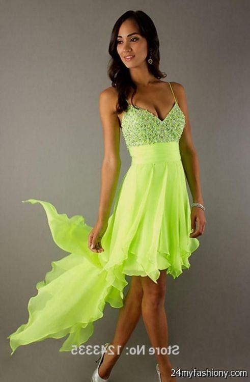 Neon Colored Party Dresses 2016 2017 B2b Fashion