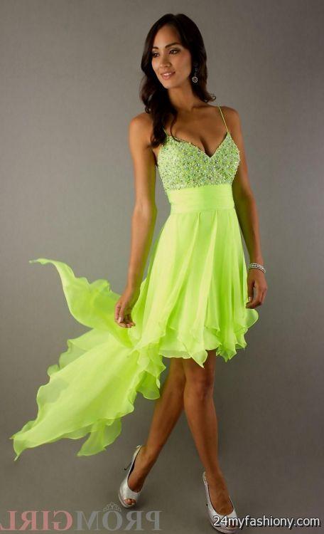 neon colored prom dresses looks | B2B Fashion