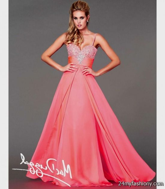 neon coral bridesmaid dresses 2016-2017 » B2B Fashion
