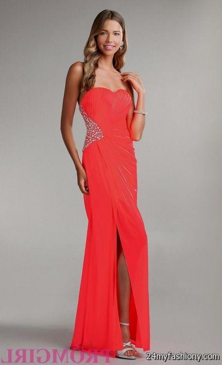 neon coral one shoulder prom dress 2016-2017 » B2B Fashion