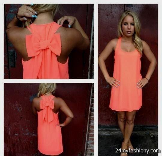 Neon Coral Summer Dress