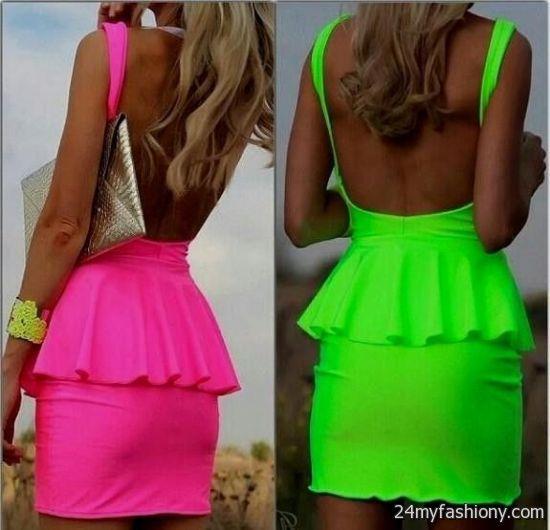 Neon dresses 2016-2017 | B2B Fashion