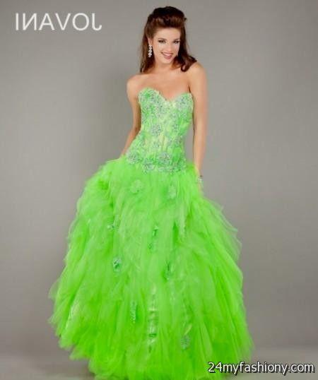 Neon Green And Black Prom Dresses Looks B2b Fashion