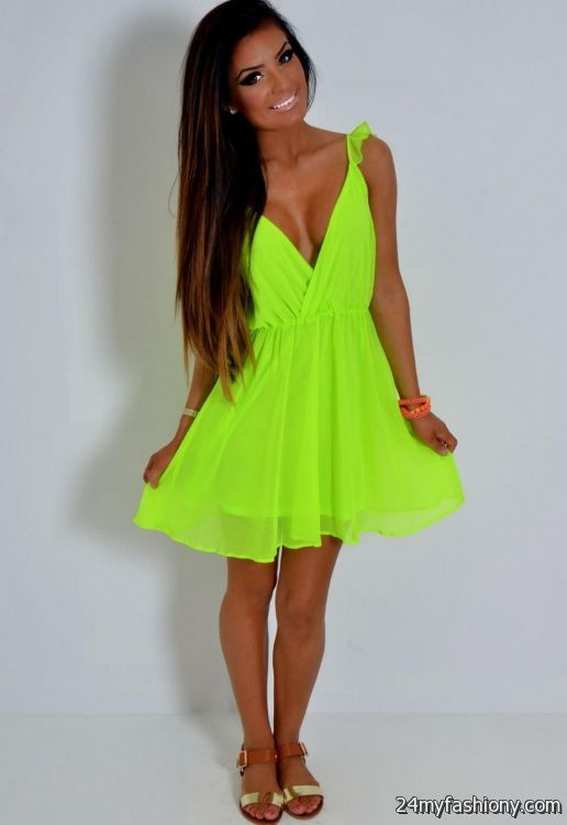Neon Green Dress – Fashion dresses