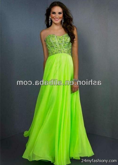 Neon Green Prom Dress Looks B2b Fashion