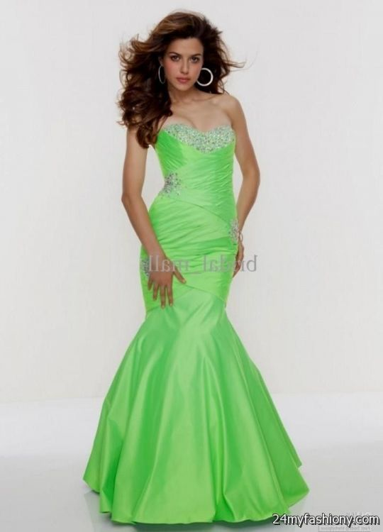 Neon Green Prom Dresses - Plus Size Tops