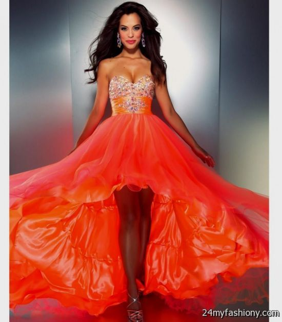 neon orange and pink dress 2016-2017 » B2B Fashion