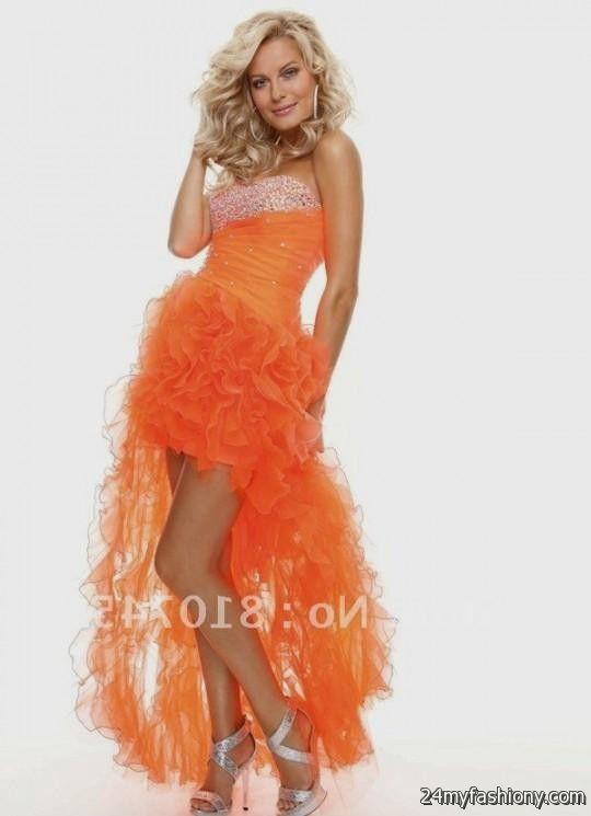 Orange Prom Gowns 2017 Fashion Dresses