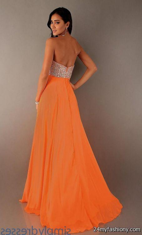 neon orange prom dress neon orange prom dresses 2016 2017