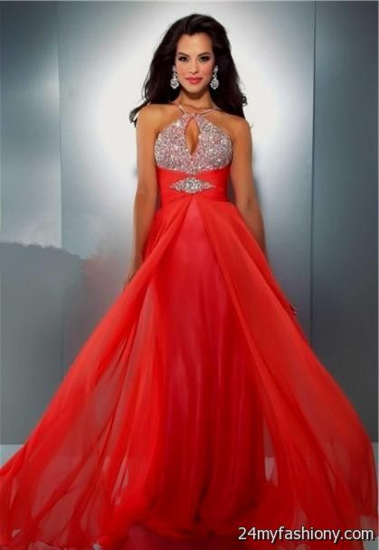 Neon Orange Prom Dresses With Straps Looks B2b Fashion