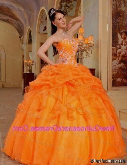 neon orange quinceanera dresses 20162017 b2b fashion