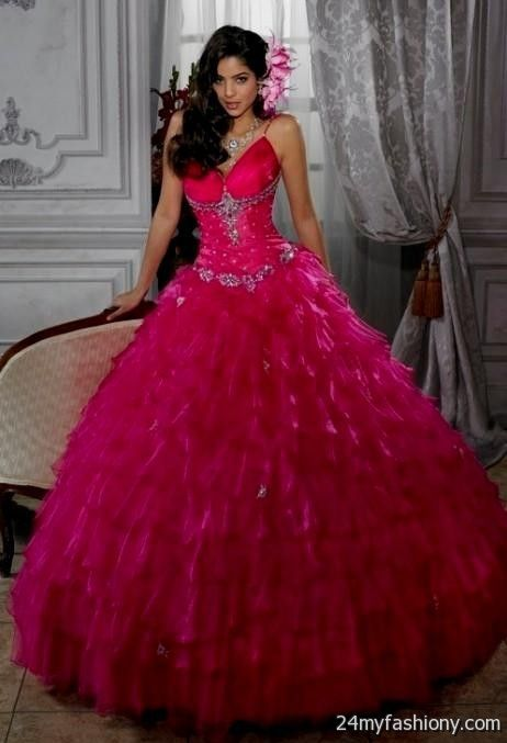 Neon Pink Prom Dresses Ball Gown Looks B2b Fashion