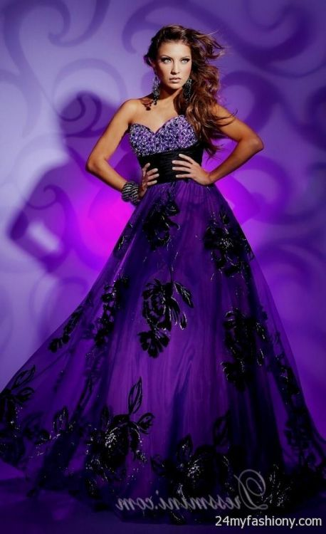 neon purple prom dress 20162017 b2b fashion