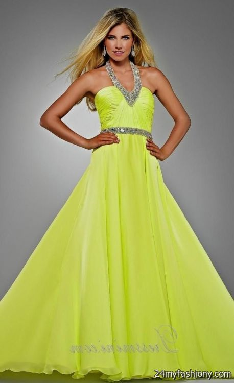Yellow And Green Prom Dresses 44