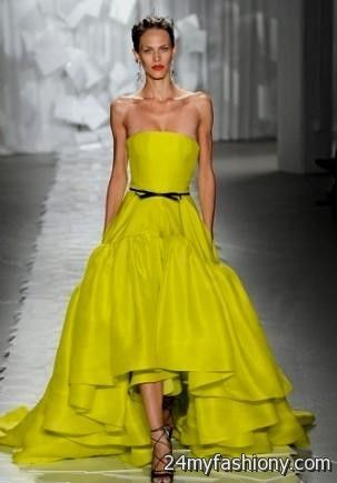 neon yellow wedding dress 2016-2017 » B2B Fashion