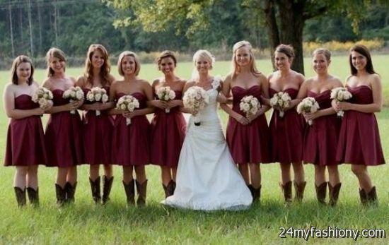 neutral bridesmaid dresses with cowboy boots 2016-2017 | B2B Fashion