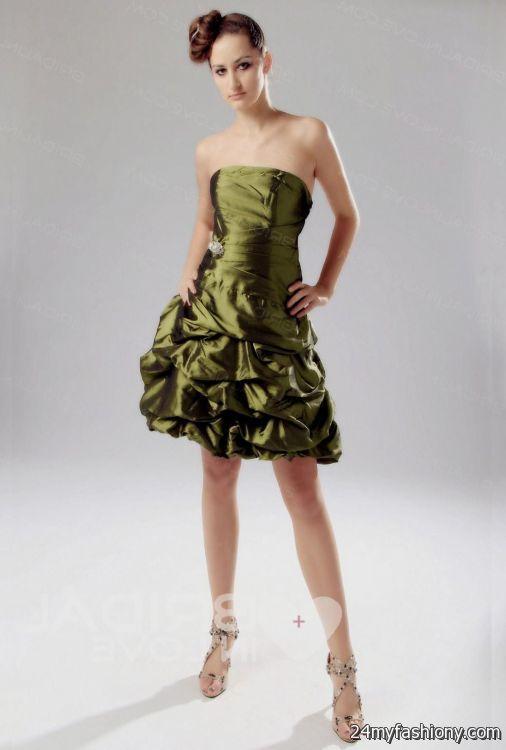 olive green cocktail dresses 2016-2017   B2B Fashion