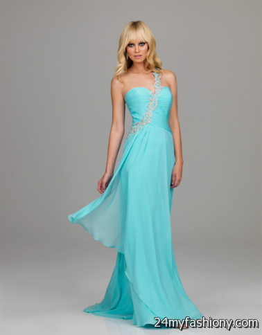 one shoulder light blue prom dresses 2016-2017 » B2B Fashion