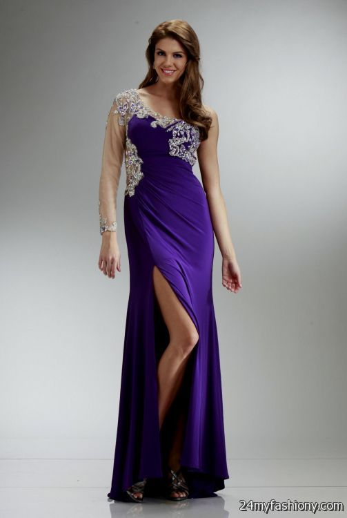 one shoulder purple prom dresses 2016-2017 » B2B Fashion