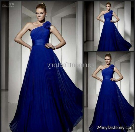 one shoulder royal blue bridesmaid dresses 20162017 b2b