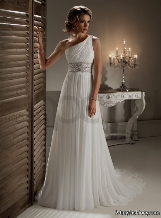 One Shoulder Wedding Dress Chiffon Looks