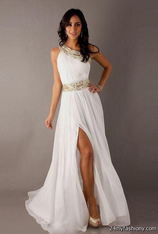White One Sleeve Homecoming Dress