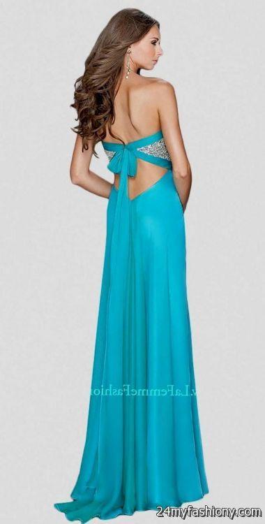 Prom Dresses Open Back Strapless 12