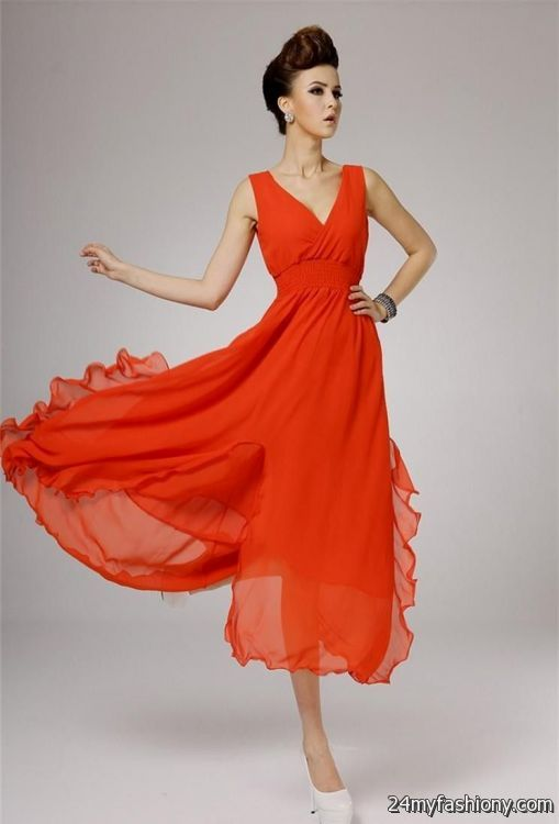 Orange summer dresses - Best Dressed