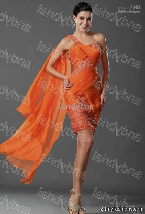 Orange Cocktail Dress - Ocodea.com